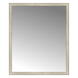 """Posters 2 Prints, LLC - 40"""" x 48"""" Libretto Antique Silver Custom Framed Mirror - 40"""" x 48"""" Custom Framed Mirror made by Posters 2 Prints. Standard glass with unrivaled selection of crafted mirror frames.  Protected with category II safety backing to keep glass fragments together should the mirror be accidentally broken.  Safe arrival guaranteed.  Made in the United States of America"""