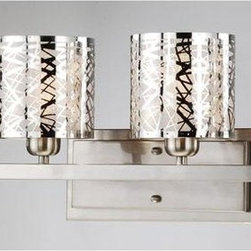 Satin Nickel 4-light Wall Sconce -