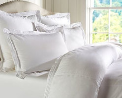 Casual Cotton Duvet Cover, Full/Queen, White - A great choice for the bedroom or guestroom, our pin-tucked bedding has the soft, casual character of a favorite pair of jeans. Made of pure cotton. Duvet cover and sham reverse to self. Duvet cover has interior ties and a button closure. Sham has an envelope closure. Duvet cover, sham and insert sold separately. Machine wash. Imported.