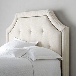 'Savoy' Headboard - The deeply sloped corners on this headboard by Bernhardt make it stand out.