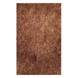"LA Rugs - Shag Silky Shag Hallway Runner 2'0""x8' Runner Brown Area Rug - The Silky Shag area rug Collection offers an affordable assortment of Shag stylings. Silky Shag features a blend of natural Brown color. Machine Made of Polyester the Silky Shag Collection is an intriguing compliment to any decor."