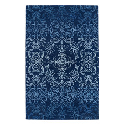 """Kaleen - Kaleen Divine DIV01 (Blue) 3'6"""" x 5'6"""" Rug - This Hand Tufted rug would make a great addition to any room in the house. The plush feel and durability of this rug will make it a must for your home. Free Shipping - Quick Delivery - Satisfaction Guaranteed"""