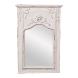 Howard Elliott - Howard Elliott Avril White Mantle Mirror - Avril white mantle mirror