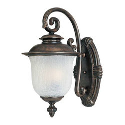 Maxim Lighting - Maxim Cambria Cast 3-Light Outdoor Wall Lantern Chocolate - 3095FCCH - Cambria Cast is a transitional style collection from Maxim Lighting Interior in Chocolate finish with Frost Crackle glass.