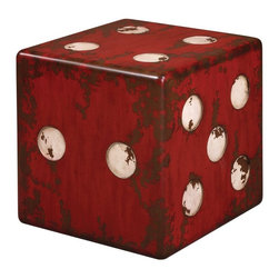 Uttermost Dice Cube End Table - Game night anyone? I love this for an entertainment room. How fun!
