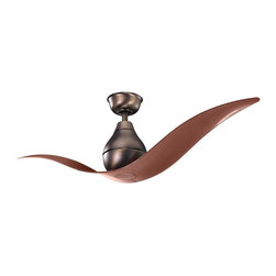 """Kichler - Maiden 52"""" Ceiling Fan Oil Brushed Bronze - Kichler Maiden Model KL-300149OBB in Oil Brushed Bronze with Translucent ABS Plastic Clear Oil Brushed Bronze Finished Blades."""