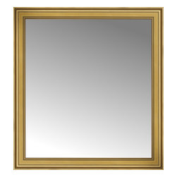 """Posters 2 Prints, LLC - 48"""" x 52"""" Arqadia Gold Traditional Custom Framed Mirror - 48"""" x 52"""" Custom Framed Mirror made by Posters 2 Prints. Standard glass with unrivaled selection of crafted mirror frames.  Protected with category II safety backing to keep glass fragments together should the mirror be accidentally broken.  Safe arrival guaranteed.  Made in the United States of America"""