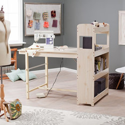 Belham Living - Beldin Craft Table - White Washed - 98026WWHT-01-KD-U - Shop for Sewing Tables and Cabinets from Hayneedle.com! The Beldin Craft Table - White Washed is one of those must-haves for any kind of project-oriented space - be it art sewing office and so much more. Constructed of MDF (medium density fiberboard wood) this table will never warp and will endure years of multi-functional uses. A melamine top ensures easy maintenance and a smooth work surface. Rollers hold paper or fabric in place so you can roll out just what you need. A big benefit includes all the storage - perfect for supplies! The included metal ruler may be used on its own or attached to the table. Paper not included. This makes a thoughtful gift - especially for you. Give yourself the gift of organization.About Belham LivingBelham Living builds catalog-quality furniture in traditional styles at a price that actually makes sense. By listening to our customers and working closely with great manufacturers we build beautiful pieces worthy of your home. Rich wood finishes attention to detail and stylish lines that tie everything together are some of the hallmarks of a Belham Living piece. From the living room or bedroom through the kitchen and out onto the deck there's something from an incredible Belham collection perfect for your style.