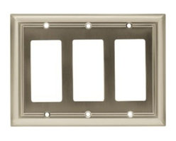 Liberty Hardware - Liberty Hardware 65165 Architectural WP Collection 6.77 Inch Switch Plate - Sati - A simple change can make a huge impact on the look and feel of any room. Change out your old wall plates and give any room a brand new feel. Experience the look of a quality Liberty Hardware wall plate.. Width - 6.77 Inch,Height - 4.9 Inch,Projection - 0.2 Inch,Finish - Satin Nickel,Weight - 0.37 Lbs