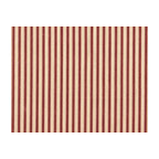 """Close to Custom Linens - 30"""" Tailored Tiers, Lined, Ticking Stripe Crimson Red - A charming traditional ticking stripe in crimson red on a beige background. Includes two panels."""