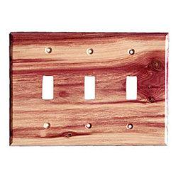 Sierra Lifestyles - Traditional - 3 Toggle - Juniper Switchplate (BSH-682215) - Traditional - 3 Toggle - Juniper Switchplate