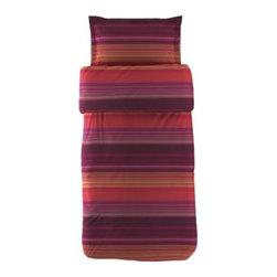 ANDREA SATIN Duvet cover and pillowsham(s) - Duvet cover and pillowsham(s), pink, multicolor