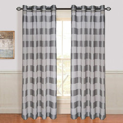 Other Brands - Lavish Home Sofia Grommet Curtain Panel - 63-95T096-G - Shop for Curtains and Drapes from Hayneedle.com! Add elegant appeal to any room with the Lavish Home Sofia Grommet Curtain Panel. This single curtain is made of 100% polyester material in size and color options to match your decor. Its silky striped pattern and complementing color tones give it upscale style. It s also machine-washable for easy care. Grommet-hole hangers are easy to use and offer a modern appeal.About Trademark Global Inc.Located in Lorain Ohio Trademark Global offers a vast selection of items for your home and lifestyle. Whether you need automotive products collectibles electronics general merchandise home and garden items home decor housewares outdoor supplies sporting goods tools or toys Trademark Global has it at a price you can afford. Decor items and so much more are the hallmark of this company.