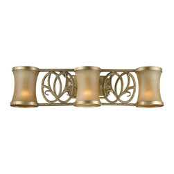 Vaxcel - Vaxcel Lighting Newbury NB-VLD003VB Venetian Brass 3 Light Vanity - Vaxcel NB-VLD003VB Newbury Venetian Brass 3 Light Vanity