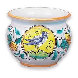 "Ceramic - Bird of Prosperity 6"" Cache Pot - Bird of Prosperity 6"" Cache Pot"