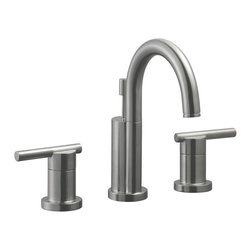 Design House - Design House 525733 Satin Nickel Geneva Double Handle Widespread - Geneva Widespread Double Handle Lavatory FaucetContemporary Styling Give This Faucet A Desirable Look In Your Modern Bathroom Design.Ceramic Disc Cartridge50-50 Popup Is IncludedAb-1953 Compliance