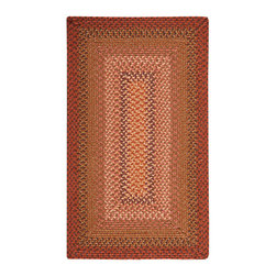 """Nourison - Nourison Craftwork KRA01 2'3"""" x 3'9"""" Sunset Area Rug 12638 - In gleaming shades of brown, terracotta, copper, coral and burnt sienna, this casually chic braided rug conjures up images of a light-filled villa on the Mediterranean for a vacation-like vibe that lasts year round. Expertly crafted to last for years - even in halls and foyers."""