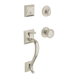 """Baldwin - Madison Double Cylinder Entry Handleset w Interior Knob - 85320.150.DBLC (Oil Ru - Finish: Oil Rubbed Bronze. Manufacturer SKU: 85320.150.DBLC. Solid forged brass hardware since 1956. Square corner 1"""" faceplates. Limited Lifetime Mechanical WarrantyFeel the difference - Baldwin hardware is solid throughout, with a 60 year legacy of superior style and quality. Baldwin is the choice for an elegant and secure presence. Baldwin guarantees the beauty of our finishes and the performance of our craftsmanship for as long as you own your home.  Both knobs/levers can be locked or unlocked by key on the outside, or turn button on the inside."""