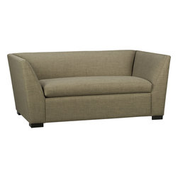 Julius Bark Twin Sleeper - If your room is cozy, try adding a twin-size sleeper sofa. This can be a great addition to a kids' room for sleepovers, or as a backup in your guest room. This neutral upholstery will blend with any color scheme.