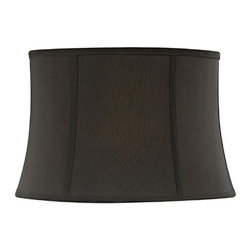 "Dolan Designs - Full Size Black Round Bell Softback Shade 13"" - Black Finish"
