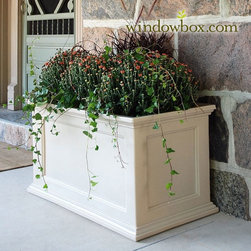 Prestige Patio Planter - If you've checked out any of my other ideabooks, you know that I'm all about greenery. So naturally (no pun intended), plants and flowers are a huge component of my dream patio — hence these durable vinyl planters!