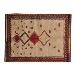 1800-Get-A-Rug - Gabbeh Thick and Plush 100% Wool Hand Knotted Oriental Rug Sh16091 - Our Modern & Contemporary hand knotted rug collection contains some of the latest designs in the industry. The range includes geometric, transitional, abstract, and modern designs; from the Tibetans to the Gabbeh. We offer an entire line of contemporary designs, whether you're searching for sophisticated and muted to the vibrant and bold.