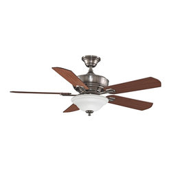 "Contemporary 52"" Fanimation Camhaven Pewter Finish Ceiling Fan"