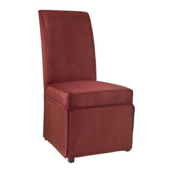 """Powell - Powell Poppy Red Velvet Skirted """"Slip Over"""" Slipcover X-Z452-147 - Designed exclusively for our """"Slip Over"""" Seating, this soft, inviting slipcover retains its smooth fit and removes easily for cleaning or changing. The Poppy Red Velvet Skirted """"Slip Over"""" is a great way to make your existing furniture new and different. Featuring Poppy Red solid pattern fabric - 70% polyester, 30% rayon, this """"Slip Over"""" is appealing and attractive and would make a great addition to your home.  For use with 741-440 chair."""