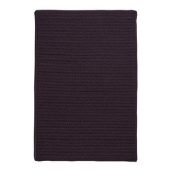 Colonial Mills - Colonial Mills Simply Home Solid H121 Eggplant Rug H121R024X036S 2x3 - Practical. Colorful. Versatile. Maintenance-free. Simply pick from 37 colors to find the perfect solid-color indoor/outdoor rug for your space.