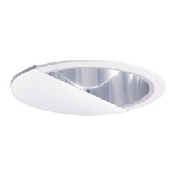 "Nora Lighting - Nora NTA-87 6"" White Wall Wash Eyelid with Specular Clear Cone Reflector - 6"" White Wall Wash Eyelid with Specular Clear Cone Reflector"