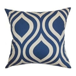 5 Surry Lane - Designer Navy Blue Emily Bargello Contemporary Geometric Pillow Cover - Do not underestimate the importance of a great pillow.  Both classic and modern, this pillow boasts sophisticated style.  Reverses to solid.  Hidden zipper closure.  Made in the USA.  Down feather insert included.  Can ship together.