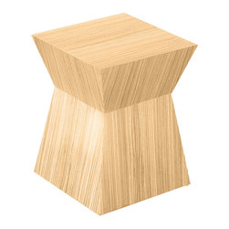Gus - Pawn Accent Stool, Natural Oak - Pawn Stool by Gus Modern
