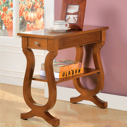 None - Furniture of America Antique Oak Belton Side Table with Storage Drawer - The Belton occasional table is perfect next to any sofa setting or against any wall,featured with a single drawer,and an open underneath shelf storage,all coated in a warm,traditional antique oak finish.