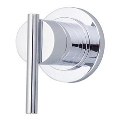 "Danze - Danze D560958T Chrome Parma Volume Control Valve Trim with Lever - Product Features:Trim plate and handles feature all-brass constructionFully covered under Danze's limited lifetime faucet warrantyHigh-quality finishing process – finish covered under lifetime warrantyBathroom trims from Danze are engineered to function flawlessly and feature enduring designsVolume control valve cartridge – controls volume only, to be coupled with thermostatic cartridgeADA compliant handleUltra-secure mounting assemblyAll hardware required for trim installation is includedRough-in valve is sold separately (when checking out valve options will be presented)Product Technologies and Benefits:Universal Valves:This feature takes any guess work completely out of the picture when looking to remodel the shower. Every valve from Danze will work with any faucet trims, making it easy and user friendly for you to build the shower system of your dreams.Product Specifications:A swinging temperature dial allows for pin-point volume and temperature controlEscutcheon (Cover Plate) Dimensions: 3-1/8"" W X 3-1/8"" HRough-in valve is sold separately (when checking out valve options will be presented)Designed to easily install with standard U.S. plumbing connections"