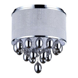 Warehouse of Tiffany - Contemporary and Modern Sliver Drops Crystal Chandelier Home Decor - Add some elegance to your home with this chrome-finished Silver Drops crystal chandelier. This dynamic lighting element features generous rows of cascading crystals to catch the light.