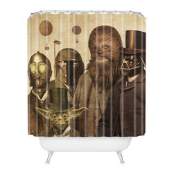 DENY Designs - Terry Fan Victorian Wars Shower Curtain - Who says bathrooms can't be fun? To get the most bang for your buck, start with an artistic, inventive shower curtain. We've got endless options that will really make your bathroom pop. Heck, your guests may start spending a little extra time in there because of it!