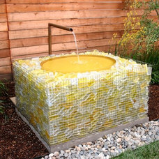 contemporary outdoor fountains by Concreteworks