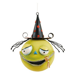 C & F - Zelgado Halloween Head Ornament - This colorful ornament is the perfect Halloween combo of cute and creepy; hang it above your kitchen window, give it as a party prize to a lucky little trick-or-treater or start a new family tradition of a Halloween tree! �� 3.5'' W x 5.5'' H Resin Imported