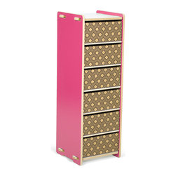 Quark Enterprises - 6 Drawer Organizer, Pink/White - This could be great in a home office. Your kids' craft supplies could coexist alongside your office essentials, and each family member could have their own drawer.
