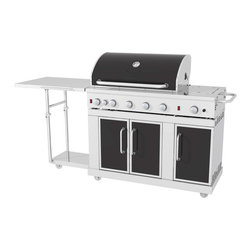 Shop Master Forge 5-Burner Gas Grill - Turn your backyard into a second kitchen with this outdoor grill.
