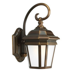 Progress Lighting - Progress Lighting Crawford Outdoor with Etched White, Oil Rubbed Bronze X-801-58 - Progress Lighting Crawford Outdoor with Etched White, Oil Rubbed Bronze X-801-5865P