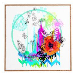 Holly Sharpe Siesta Framed Wall Art - Bamboo frame with high gloss print