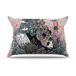 """Kess InHouse - Mat Miller """"Land of The Sleeping Giant"""" Panda Pillow Case, Standard (30"""" x 20"""") - This pillowcase, is just as bunny soft as the Kess InHouse duvet. It's made of microfiber velvety fleece. This machine washable fleece pillow case is the perfect accent to any duvet. Be your Bed's Curator."""