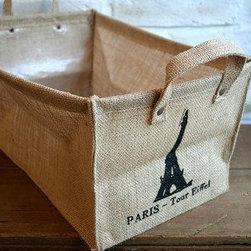 Paris Home - French Chic Burlap Basket