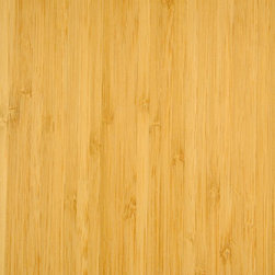 Vertical Carbonized Bamboo Veneer - Vertical carbonized bamboo veneer is caramel brown in color and is made from laminated strips of bamboo. It is available as a vertical (narrow) or a plank (wide) cut and in a variety of backers and sizes.