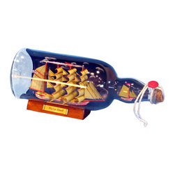 """Handcrafted Model Ships - Red Flying Cloud Ship in a Bottle with Sky 11"""" - Boat in A Bottle - Fully assembled � ready for immediate display"""
