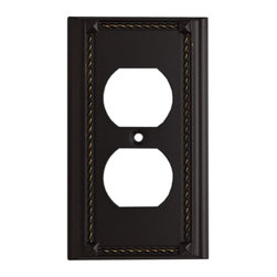 """Elk Lighting - EL-2500AGB Clickplates Aged Bronze Single Lighting Accessory - Decorative outlet covers customizable to your receptacle configuration. """"we've got you covered"""" with the most popular models and finishes. Quality cast metal construction will add a finishing touch to your decor. Clickplates will look great in every room in your home."""