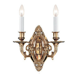 Crystorama Lighting Group - Crystorama Lighting Group 622 Arlington 2 Light Candle Style Double Wall Sconce - *Two Light Traditional Wall Sconce