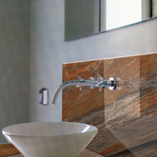 Modern Bathroom Countertops by Aurora Marble