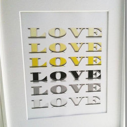 """Yellow and Gray - Title: """"Love on Gray"""""""